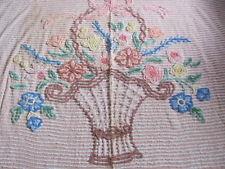 Classic floral design chenille bedspread.