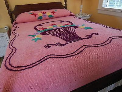 Purple Vintage Chenille Bedspread