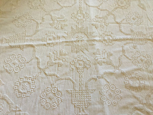 Vintage Chenille Candlewick Bedspread